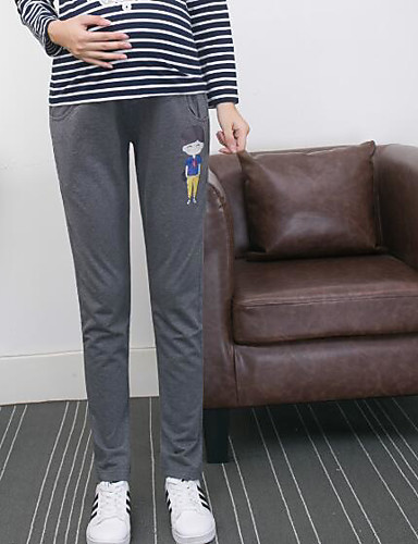 Women's Mid Rise Micro-elastic Skinny Loose Pants, Casual Solid Patchwork Spring Fall