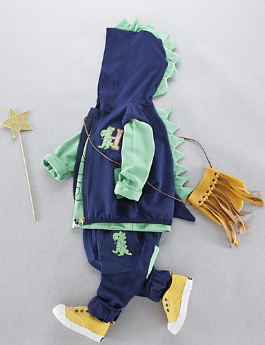 Boys' Others Clothing Set,Cotton Spring Fall Green Yellow