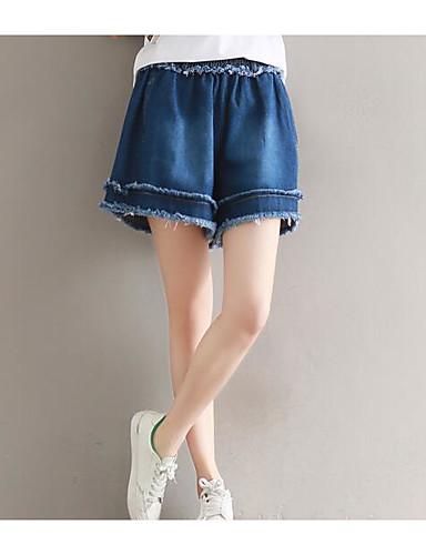 Women's Mid Rise Micro-elastic Shorts Pants,Cute Wide Leg Solid