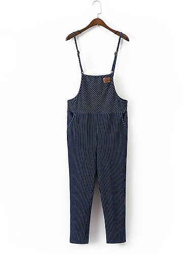 Women's Going out Daily Holiday Sexy Street chic Solid Striped Strap Jumpsuits