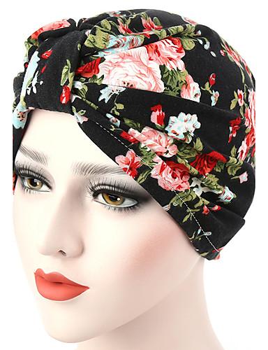 Női Egyszínű Vegyes szín Pamut, Kalap / Virág - Széles karimájú kalap / Nyár