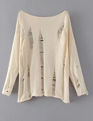 Women's Going out Daily Vintage Casual Street chic Regular Pullover