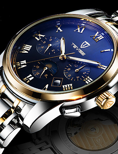 Men's Wrist Watch Chinese Calendar / date / day / Water Resistant / Water Proof / Creative Stainless Steel Band Charm / Luxury / Casual White / Gold