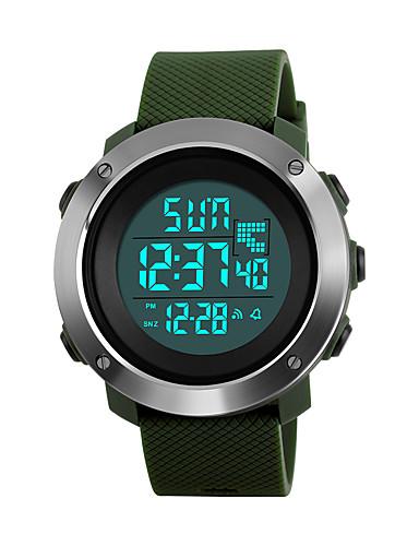 SKMEI Mulheres Relógio Esportivo Relógio Militar Relógio de Pulso Japanês Digital 50 m Impermeável Alarme Calendário PU Banda Digital Fashion Preta / Verde / Cinza - Preto Cinzento Verde Dois anos