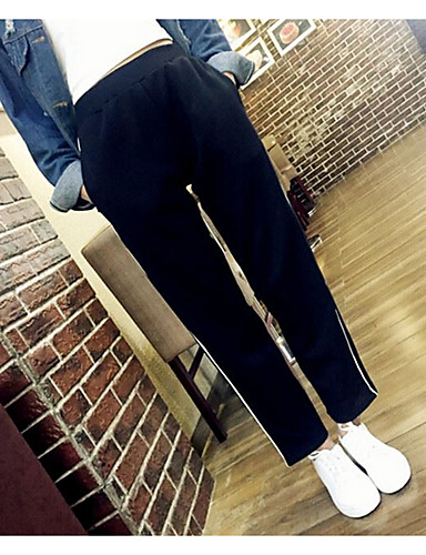 Women's Casual Chinos Relaxed Pants - Solid Colored