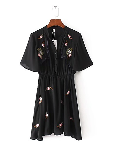 Women's Going out Daily Simple Street chic Loose Shift Dress