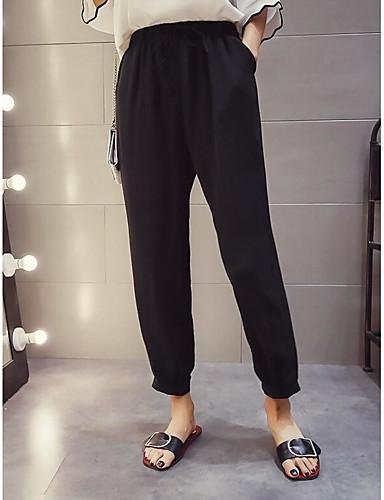 Women's High Waist Micro-elastic Loose Pants,Sexy Wide Leg Solid