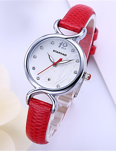 Women's Fashion Watch Quartz Water Resistant / Water Proof PU Band Red Rose