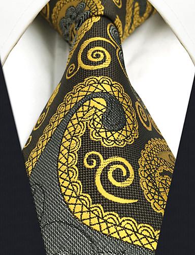 trabalho bonito do partido do vintage dos homens gravata de rayon ocasional - jacquard de bloco paisley da cor, básico