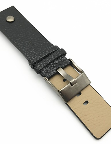 PU Leather Watch Band Strap Black Orange Brown 213 24cm / 9 Inches 2cm / 0.8 Inches