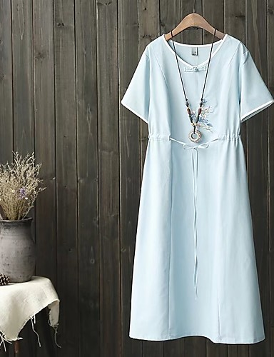 Women's Going out Daily Simple Street chic Sheath T Shirt Dress