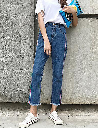 Women's Casual Straight Pants - Solid Colored / Summer
