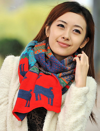 Women's Imitation Cashmere Rectangle Solid Winter All Seasons