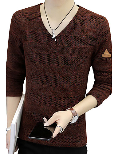 BIENSI Outdoor Cotton for Spring Fall Shirts & Tops Clothing Apparel & Accessories / V Neck / Long Sleeve / Work / Club / Plus Size