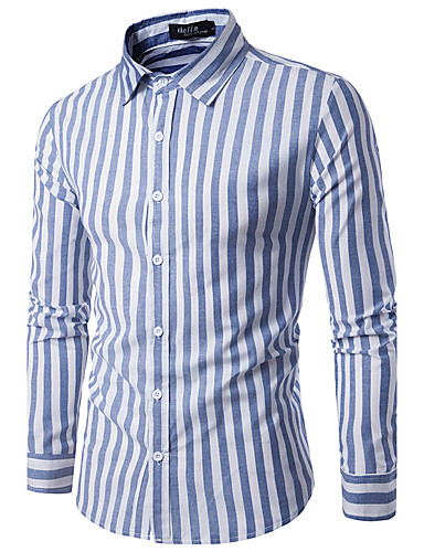 Men's Chinoiserie Cotton Shirt - Check Classic Collar