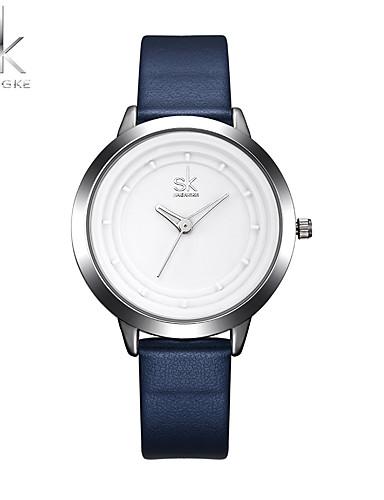 SK Women's Quartz Wrist Watch Sport Watch Chinese Shock Resistant PU Band Casual Minimalist Elegant Cool Navy