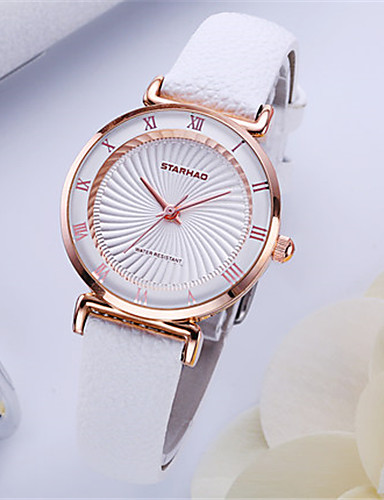 Women's Fashion Watch Quartz Water Resistant / Water Proof PU Band Black White Blue Red Yellow