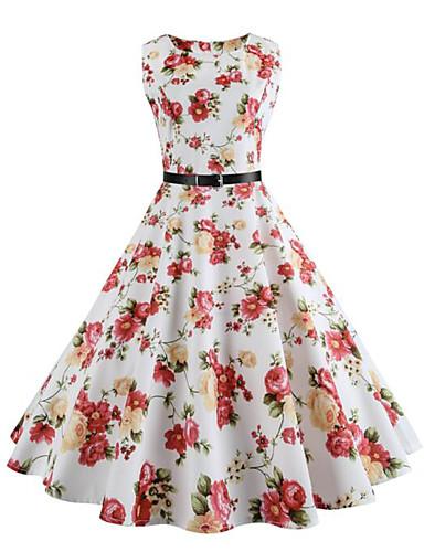 Mulheres balanço Vestido - Estilo vintage, Floral