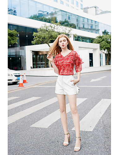 Women's Going out Daily Sexy Casual Cute Spring Summer Blouse