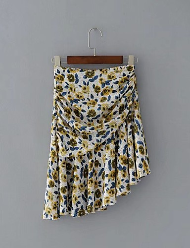 Women's Beach Going out Daily Holiday Asymmetrical Skirts