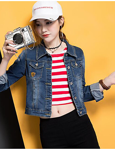 Women's Daily Casual Casual Summer Denim Jacket