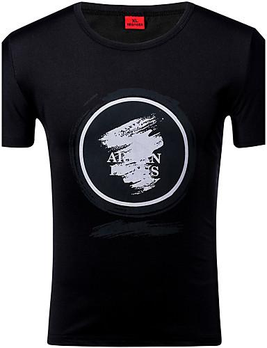 Miehet Lyhythihainen Ohut Pyöreä kaula-aukko Polyesteri Spandex Kevät Kesä Katutyyli Aktiivinen Urheilu Rento/arki T-paita,Color Block