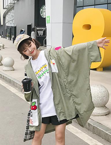 Women's Daily Soak Off Summer Cloak/Capes,Solid Round Neck Long Sleeve Regular Silk