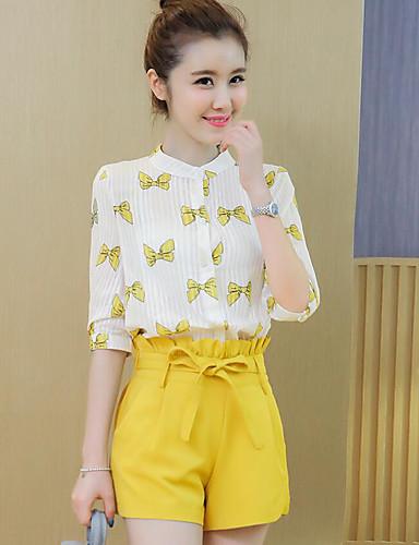 Women's Cotton Blouse - Pattern Pant / Summer
