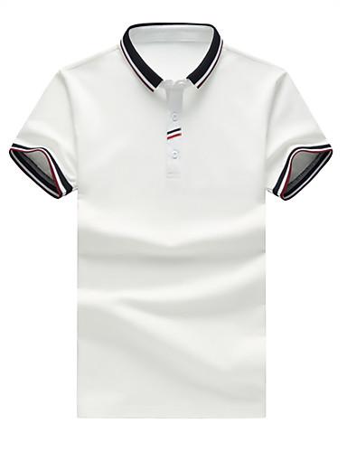 Bomull Skjortekrage Polo Herre - Ensfarget