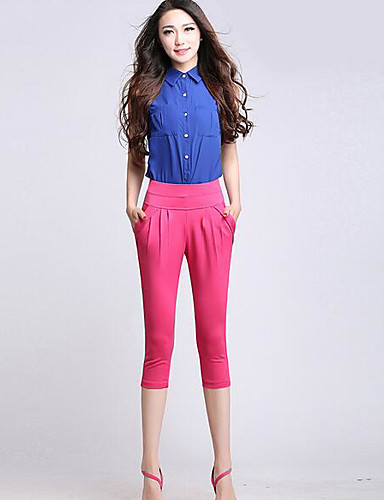 Women's Chinoiserie Harem / Shorts Pants - Solid Colored / Summer
