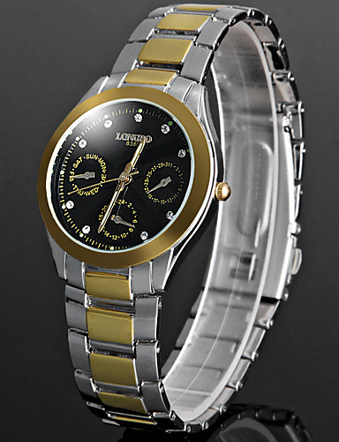 Men's Quartz Wrist Watch Chinese Hot Sale Metal Band Sparkle Unique Creative Watch Fashion Black