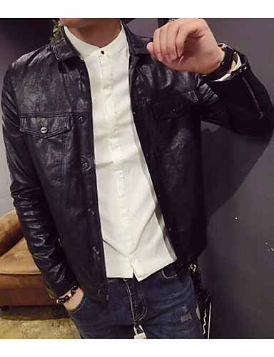 Men's Daily Casual Spring Leather Jacket