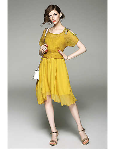 Women's Party Holiday Going out Casual Loose Swing Dress