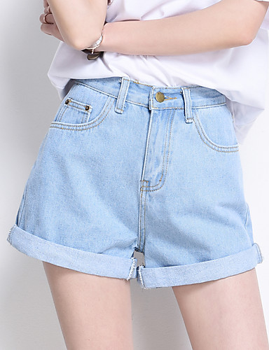 Women's High Waist strenchy Shorts Pants,Simple Wide Leg Solid