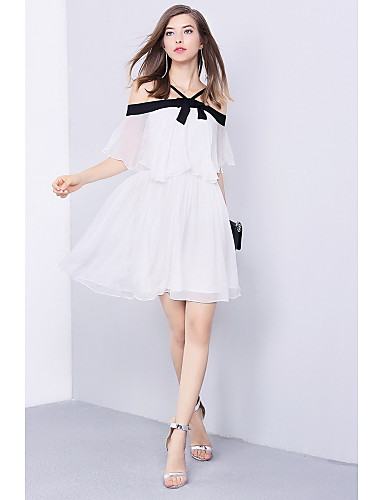 Women's Going out Daily Simple Chiffon Dress