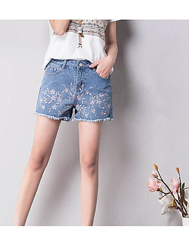 Women's Mid Rise Inelastic Shorts Pants,Simple Relaxed Graphic