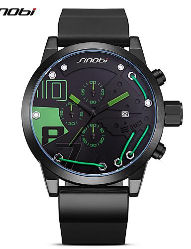 SINOBI Men's Wrist watch Fashion Watch Sport Watch Japanese Quartz Calendar / date / day Chronograph Large Dial Shock Resistant PU Band