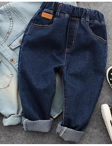 Jungen Jeans einfarbig Baumwolle Frühling Sommer