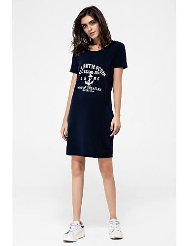 Pentru femei Mărime Plus Size Teacă Tricou Rochie - Imprimeu