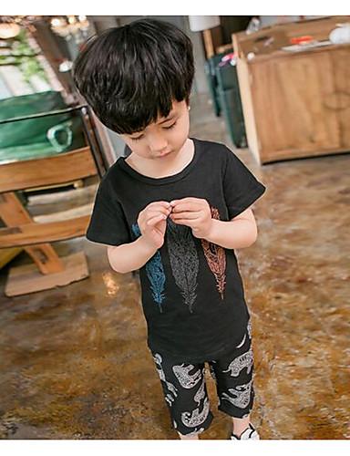 Jungen Sets Druck Baumwolle Sommer Kleidungs Set