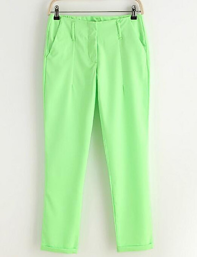 Women's Simple Straight / Chinos Pants - Solid Colored / Spring
