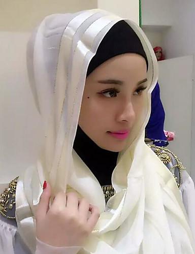 billige Kjoler-Dame Grunnleggende Hijab Ensfarget