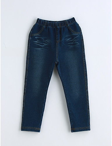 Jungen Jeans Solide Baumwolle Frühling Herbst Blau