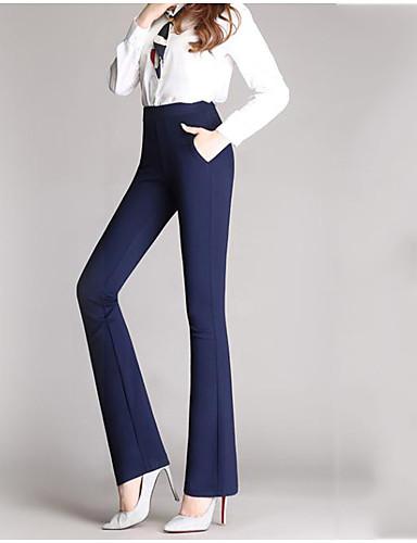 Pentru femei Șic Stradă Mărime Plus Size Zvelt Bootcut / Drept / Afacere Pantaloni Mată / Muncă