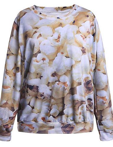 Damen Pullover Lässig/Alltäglich Einfach Druck Rundhalsausschnitt Unelastisch Polyester Lange Ärmel Herbst