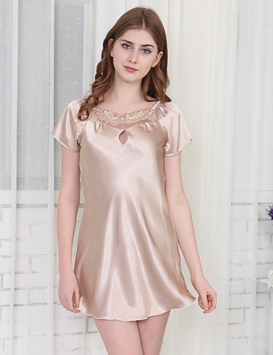 Women's Babydoll & Slips / Satin & Silk Nightwear - Lace Solid Colored