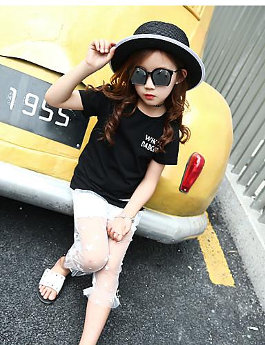 Mädchen T-Shirt einfarbig Baumwolle Sommer Kurzarm