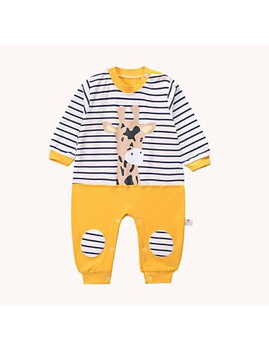 Baby Jungen Einzelteil Geometrisch Baumwolle Frühling/Herbst Gelb