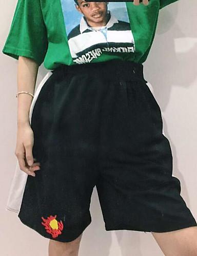 Damen Einfach Hohe Hüfthöhe Mikro-elastisch Chinos Breites Bein Hose Gestreift