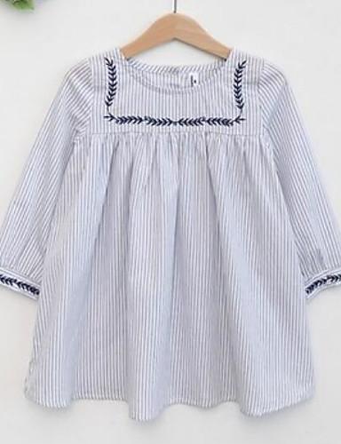 Mädchen Kleid Gestreift Baumwolle